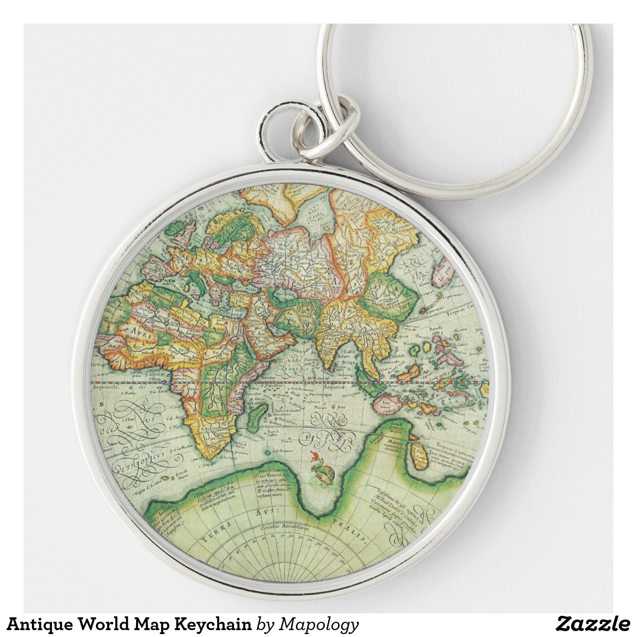 World map keyring world map keyring world map keychains map antique world map keychain zazzle world map keyring sciox Images